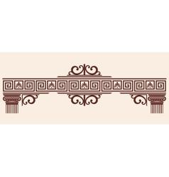 Greek ornament vector image