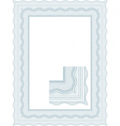 Guilloche border vector