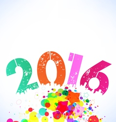 Happy 2016 new year with colorful background vector