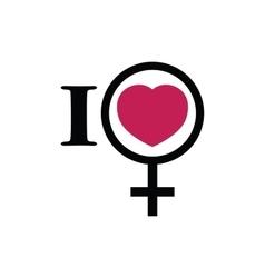 I love women vector image