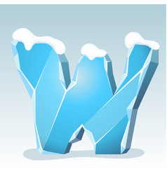 Ice letter w vector