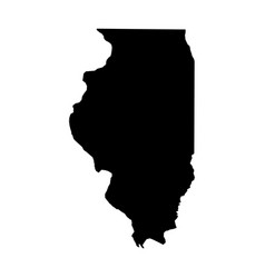 Illinois state of usa - solid black silhouette vector