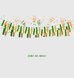 india garland flag with confetti vector image