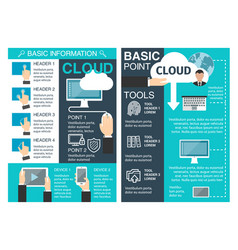 Internet cloud information brochure vector