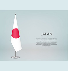 Japan hanging flag on stand template vector