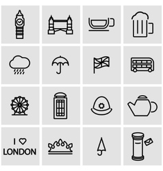 Line london icon set vector