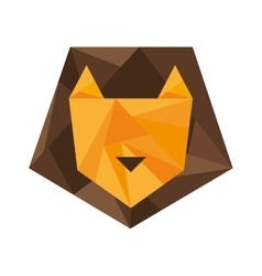 lion silhouette low poly icon vector image
