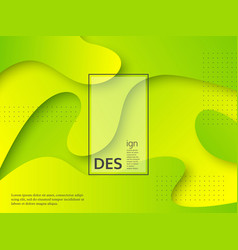 liquid abstract yellow and green background vector image
