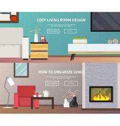 Living Room Furniture Banner vector image