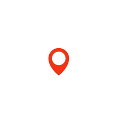location pin icon red taxi pointer simple flat vector image