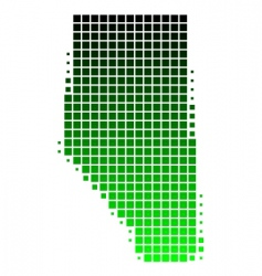 Map of Alberta vector