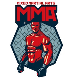 MMA fighter stand vector
