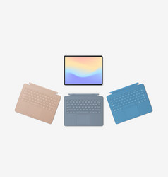 modern tablet computer with different keyboards vector image