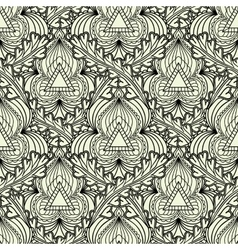 Monochrome seamless pattern in Indian style vector image