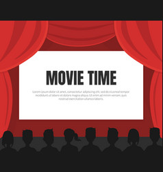 movie time background with space for text cinema vector image