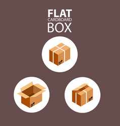 open box cardboard package image vector image