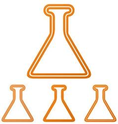 Orange line alchemy logo design set vector
