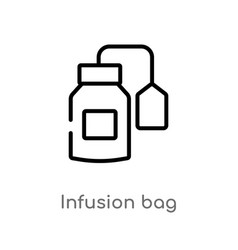 outline infusion bag icon isolated black simple vector image