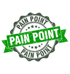 Pain point stamp sign seal vector