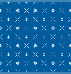pattern 0082 wheel and anchor vector image