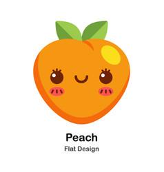 Peach flat icon vector