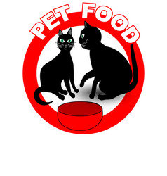 pet food signboard or product label with two vector image