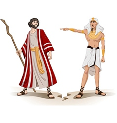 Pharaoh Sends Moses Away For Passover vector