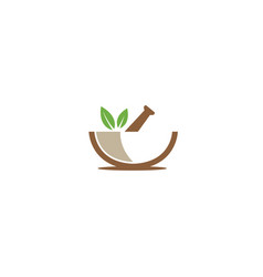 Pharmacy bio and naturel leaves recipe for logo vector
