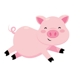 Pig smiling icon vector