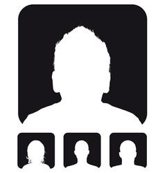 profile vector image