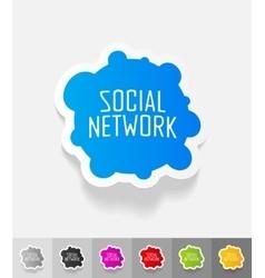 Realistic design element social network vector