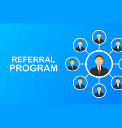 Referral marketing concept referring friends vector