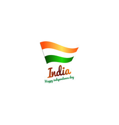 republic india flag icon colors indian vector image