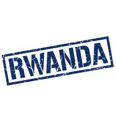 Rwanda blue square stamp vector