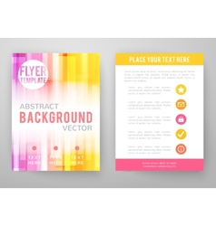 set abstract bright background for flyer vector image