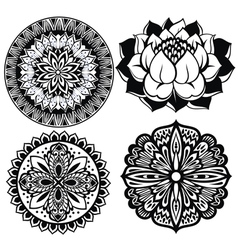 Set Mandalas vector image