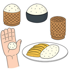 set of sticky rice vector image