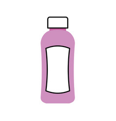 shampoo plastic bottle lotion or shower gel vector image