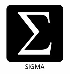 sigma greek letter icon vector image