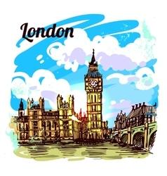 sketch London vector image