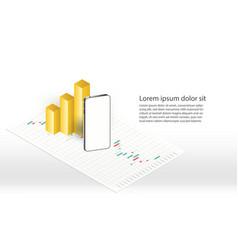 Smartphones controls stock market forex trading vector