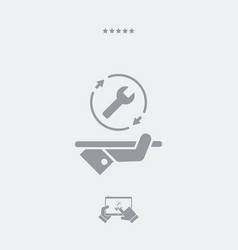 Steady assistance services - web icon vector