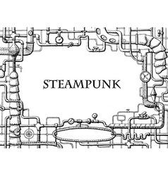 Steampunk frame vector
