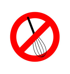 Stop corolla kitchen utensils do not beat red vector
