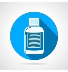 Supplements jar flat round icon vector