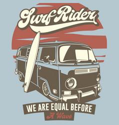 surf rider vector image