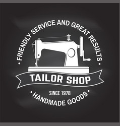 tailor shop badge concept for shirt vector image