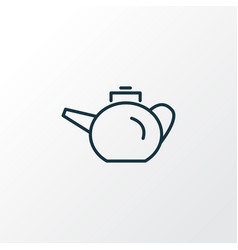 teapot icon line symbol premium quality isolated vector image