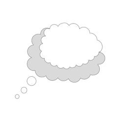 Think cloud comic vector