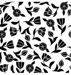 tulips pattern seamless ornament vector image